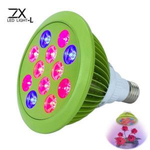 ZX 12W 24W E27 Växt LED växa lampa lampa trädgård växthus växtplanta ljus