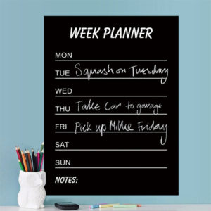 Environmental PVC Teaching Blackboard Removable Chalkboard Sticker Write Week Planner Home Decor