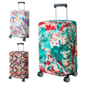 Honana Abstraction Chinese Style Elastic Luggage Cover Trolley Case Cover Durable Suitcase Protector for 22-28 Inch Case Warm Travel Accessories