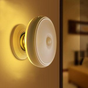 Loskii DX-004 360 Rotation Mänsklig kroppssensor LED Nattlampa Magnethållare USB Uppladdningsbar lampa