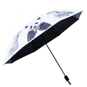 LYZA Vinyl Sunscreen Umbrella Three Folding Umbrella