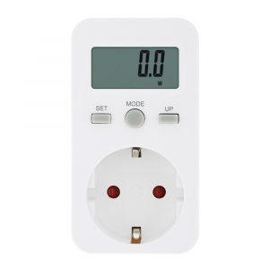 Bakeey 16A Plug-in Digital Wattmeter LCD-display Strömmätare Elanvändning Socket Adapter Elektrisk förbrukningsmonitor EU Plug