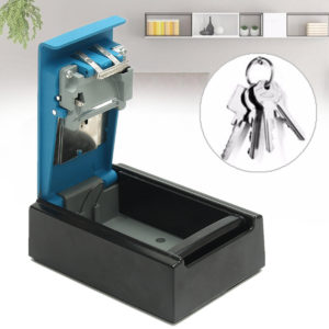 Alumium Alloy Blue 4-digit Key Storage Box Wall Hanging Keybox Combination Code Lock Storing Keys