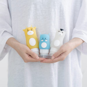 Home Bathroom Silicone Cute Animal Shape Portable Travel Shower Lotion Storage Bottle Shampoo Container