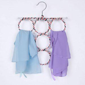 Clothes Tie Belt Shawl Scarf Hanger Holder Closet Organizer Hook 9-28 Ring