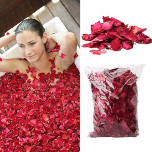 Dried Rose Petals Natural Flower Spa Whitening Shower Dry Rose Natural Flower Petal Bath Relieve Fragrant Body