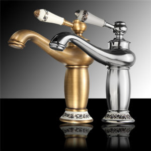 Bathroom Faucet Brass Basin Sink Faucet Contemporary Single Handle Water Taps Antique Bronze Finish