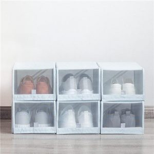 2PCS Shoe Storage Box From Xiaomi Youpin Save Space Tidy Foldable Shoe Organiser Box Storage Baskets