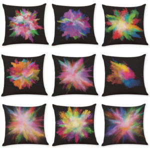45x45cm Colored Element Luxury Cushion Cover Graffi Style Throw Pillow Case Pillow Covers