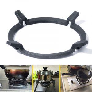 Universal gjutjärn Wok stativstöd / stativ för brännare Passar 99% gashällar och spisar Köksförvaringsställ