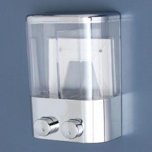 2 st 400 ml Väggfäste Trycktyp flytande schampo tvål dispenser duschgelbehållare badrum hem köksartiklar