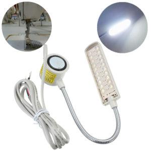 1,5W 110-250V 20 LED svanhals symaskin Enkel magnetisk bas Knuckle Joint Light sömnadsverktyg