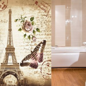 180x180cm Eiffel Tower Waterproof Fabric Shower Curtain Fabric Bathroom Decor Modern