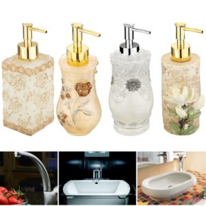 3D Resin Soap Dispenser Liquid Pump Bottles Home Office Hotel Bathroom Decor