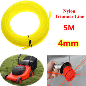 5m Universal Brush Cutter Round Nylon Trimmer Line Garden Lawnmower Fitting