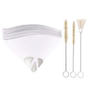 100Pcs Paper Strainer Silicone Funnel Filter Tip Cone Shaped Fine Nylon Mesh Funnel