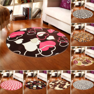 100x100cm Coral Velvet Bathroom Absorbent Carpet Anti Slip Door Sill Round Mat Rug