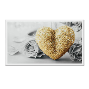 """18""""x32"""" Heart Rose Canvas Prints Paintings Pictures Frameless Wall Art Home Decor"""