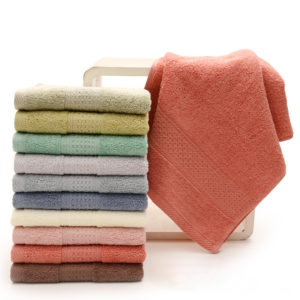 KCASA KC-X2 100% Cotton Solid Bath Towel Fast Drying Soft 10 Colors Thick High Absorbent Antibacterial Towel