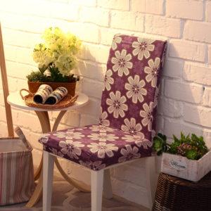 Honana WX-914 Elegant Noble Spandex Elastic Stretch Chair Seat Cover Dining Room Home Wedding Decor