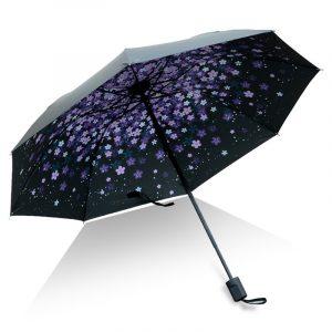 Kreativt UV-skyddsparaply Trefaldigt solskyddsparaply