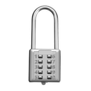 KCASA LK-21L 10 siffror tryckknapp kombination hänglås resväska resväska bagage säkerhet lösenord lås