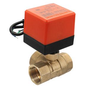 """1/2 """"3/4"""" 1 """"Motoriserad elektrisk mässing 3-vägs kulaventiler Hona 3 Wire AC 220V Hel port T-typ ventil"""