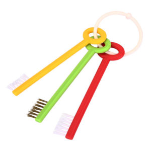 3Pcs Key Shape Bathroom Washbowl Kitchen Sink Gap Brush Wash Basin Cleaning Brush