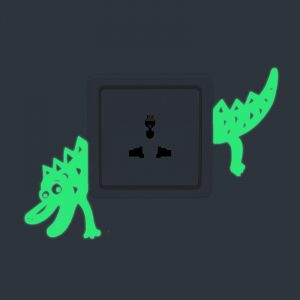 Honana DX-169 Fluorescent Glow Switch Wall Sticker Horrible Crocodile Home Bedroom Decor