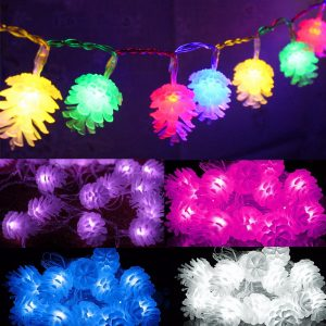 2M 20 Pine Cone LED Fairy String Lights Party Patio Wedding Christmas Lights Home Decoratiions Night Light