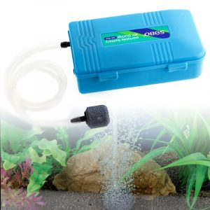 Waterproof Portable Oxygen Air Pump for Fish Tank Aquarium Accessories with Soft Tube Air Stone