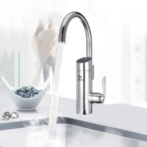 220V 3000w Bathroom Kitchen Electric Faucet Tap Instant Hot Cold Water Heater