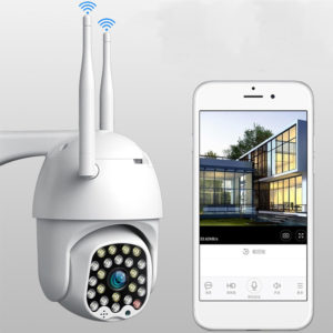 Bakeey 23 LED 1080P 5MP Smart Dome Speed Camera Tvåvägs ljud Helfärg Nattvision IP66 Vattentät automatisk spårning CCTV Home Security Monitor
