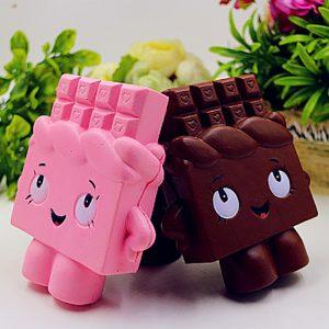PU-simulering av choklad mänsklig leksak Squishy - Tryckavlastningsleksaker slumpmässig färg