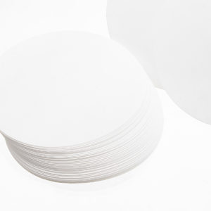 100Pcs/Set 7/9/11/12.5/15/18cm Quantitative Filter Paper Ashless Circular Funnel Filter Sheet Medium Speed 15-20um
