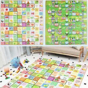 200x180cm Kids Crawling Educational Game Baby Floor Mat Soft Foam Carpet