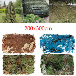 2x3m Woodlands Leaves Hide Jungle Camouflage Netting Camo Net för camping militär jakt