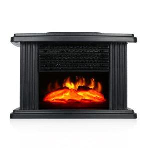 Bakeey 1000W Desktop Mini El-spis spis med logflameffekt Varmluftsvärmare Fläkt Skrivbord Uppvärmning för smarta hem