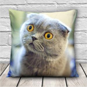 3D söta uttryck katter kasta kuddfodral soffa kontors bil kudde täck gåva