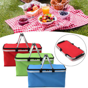 30L Large Folding Insulated Thermal Cooler Bag Picnic Camping Lunch Storage Baskets
