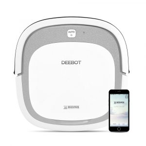 ECOVACS DEEBOT SLIM2 Robot Vacuum Cleaner 3 in 1 Sweeping Mop and Vacuum, 2600mAh with APP Control