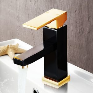 Aluminum Bathroom Basin Faucet Single Handle Mixer Tap Rubbed Bronze Rose Gold