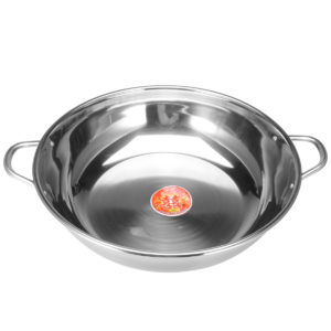 38cm Stainless Steel Twin Double Hot Pot Cookware Shabu Induction Compatible