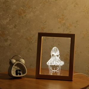 KCASA FL-720 3D Photo Frame Illuminative LED Night Light Girl's Back Desktop Decorative USB Lamp For Bedroom Art Decor Christmas Gifts