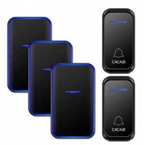 CACAZI 300M Remote Waterproof LED Indicator US EU Plug Smart Calling Wireless Doorbell
