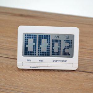Bakeey LED Digital Display Alarm Clock Kitchen Bakning Timing påminnelse Timer med kalender för hemmakontor resor