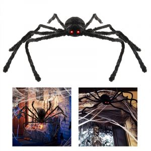 Spider Prank Toy Outdoor Party Halloween Decor Black Haunted Simulation Prop Decorations