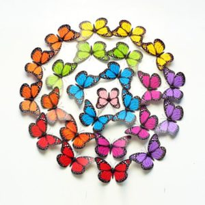 10 st 12 cm 3D färgglad fjäril väggklistermärke kylmagnet Heminredning Art Applique