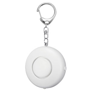 125dB Loud Portable Round Shape Bag Keychain Anti Theft Personal Security Alarm with Bright LED Light