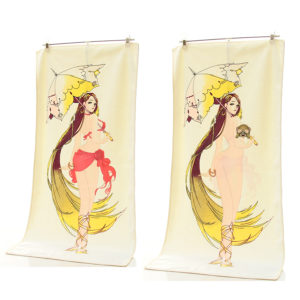 Vintage Cotton Soft Heating Undress Towel Sexy Discoloration Towel Magic Fade With Temperature Rise as Gift